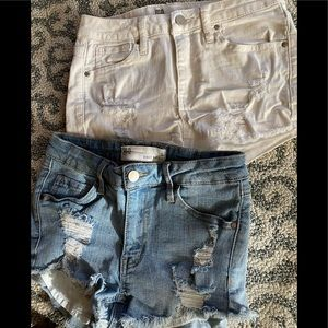 RSQ denim shorts Venice Mid Rise size 0 TWO PAIRS